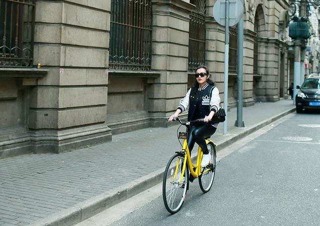 Ofo bike sharing.