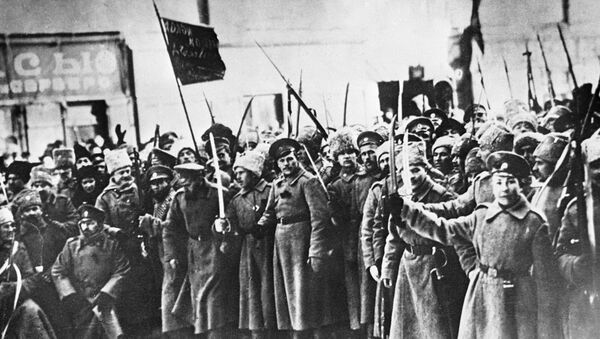 Soldiers of 1917 February Revolution. - Sputnik International