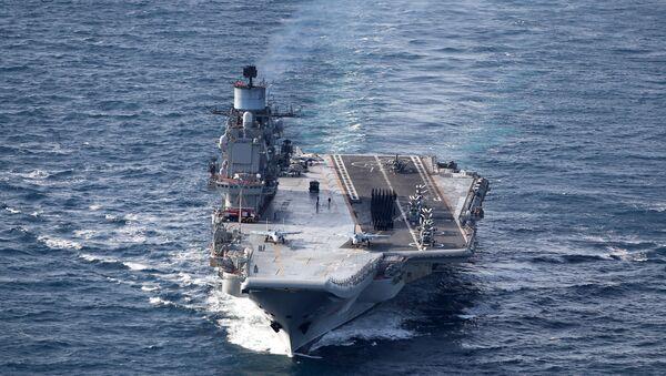 British Navy and Air Force escort Russian warships Admiral Kuznetsov and Pyotr Veliky - Sputnik International
