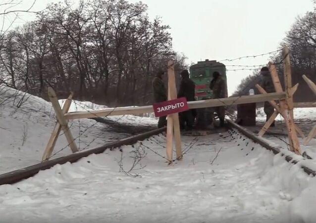 Railway blockade of Donbass