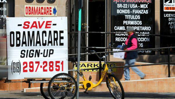 An insurance store advertises Obamacare in San Ysidro, California, U.S., January 25, 2017 - Sputnik International