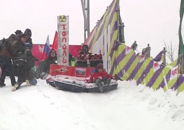 Russians Race Down Snowy Slopes In Annual Winter Festival
