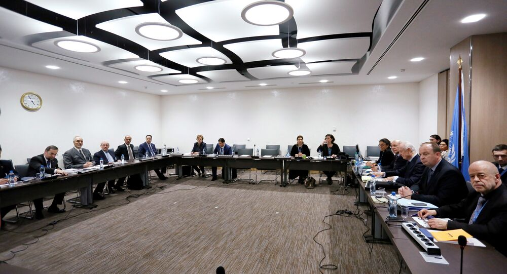 Intra-Syria peace talks with UN Special Envoy for Syria at the Palais des Nations in Geneva (File)