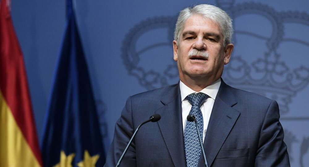 Spanish Minister of Foreign Affairs and Cooperation Alfonso Dastis Quecedo