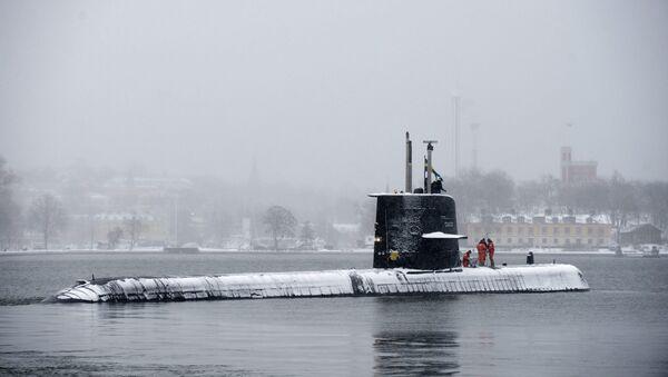 Swedish submarine HMS Halland (File) - Sputnik International