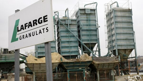 Lafarge plant is pictured in Paris. Cement group LafargeHolcim admitted on Thursday March 2, 2017 that unacceptable deals with armed groups in northern Syria allowed its activities there to continue - Sputnik International