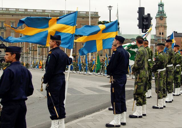 Swedish armed forces soldiers attend a rehearsal in front of the Royal Palace in Stockholm, Sweden (File)