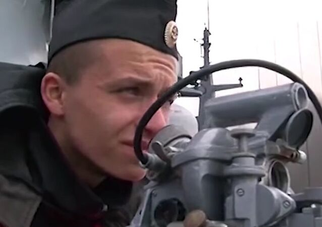 Russian Baltic Fleet Conducts Artillery Exercises
