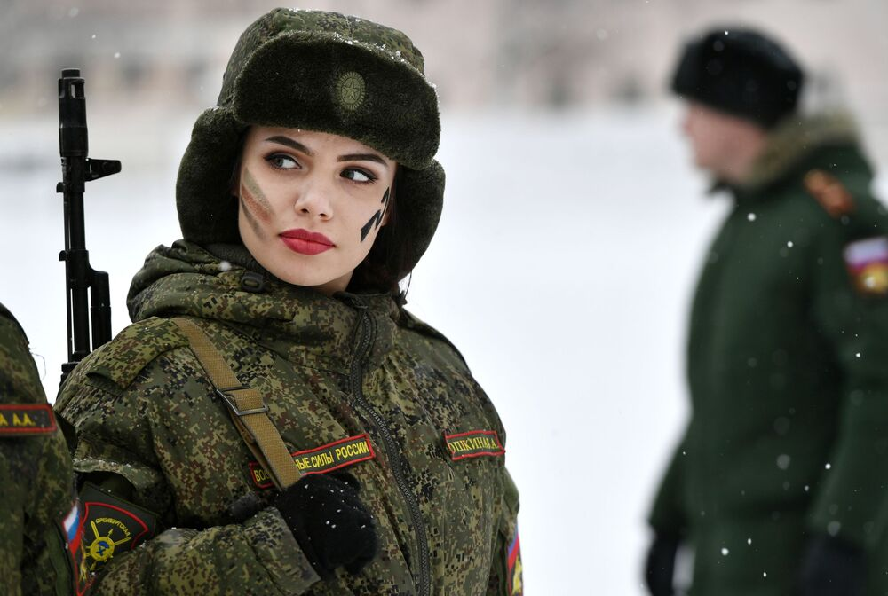 Russian Army Holds Beauty and Skill Contest for Female Soldiers