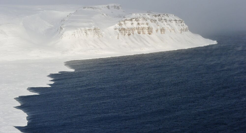 Coastline of the Franz Josef Land archipelago.