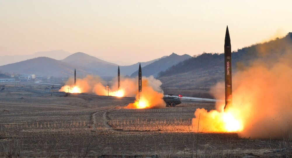 North Korean leader Kim Jong Un supervised a ballistic rocket launching drill of Hwasong artillery units of the Strategic Force of the KPA on the spot in this undated photo released by North Korea's Korean Central News Agency (KCNA) in Pyongyang March 7, 2017.