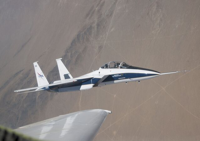NASA's F-15 research test bed will expose the Swept Wing Laminar Flow test article to speeds up to Mach 2, matching conditions presented during wind tunnel testing at NASA's Langley Research Center.