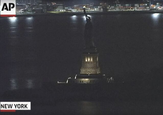 Statue of Liberty Blackout on the night of March 7, 2017