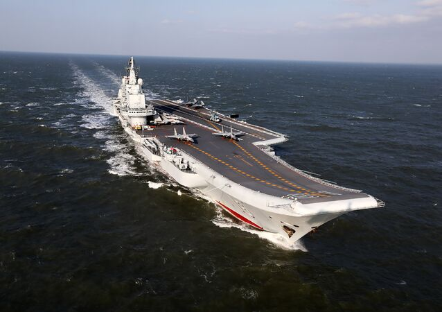 December 24, 2016 shows the Liaoning, China's only aircraft carrier, sailing during military drills in the Pacific
