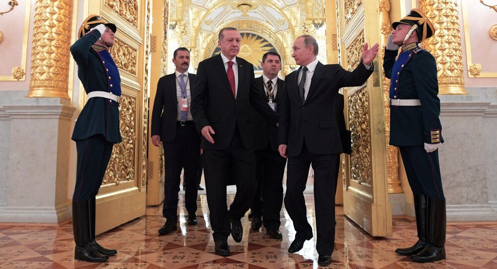 President Vladimir Putin takes part in Russian-Turkish Cooperation Council meeting