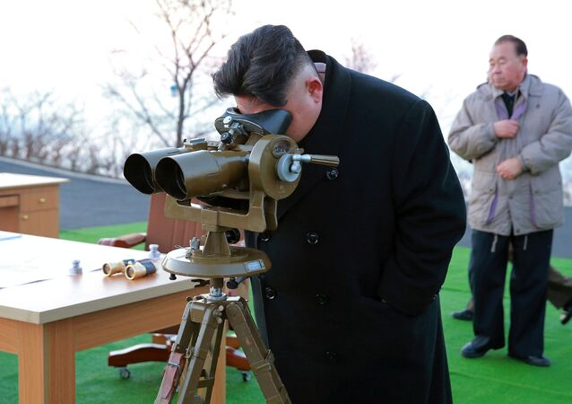 North Korean leader Kim Jong Un supervised a ballistic rocket launching drill of Hwasong artillery units of the Strategic Force of the KPA on the spot in this undated photo released by North Korea's Korean Central News Agency (KCNA) in Pyongyang March 7, 2017