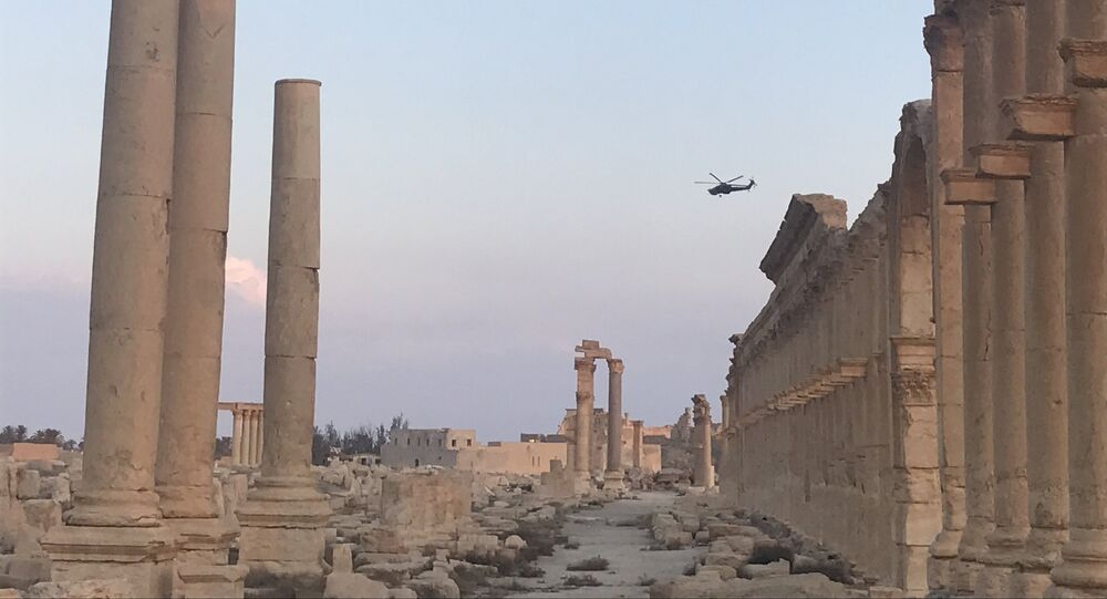 The historical architectural complex of Ancient Palmyra in Homs Governorate, Syria