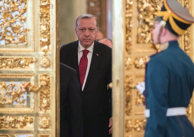 March 10, 2017. Turkish President Recep Tayyip Erdogan prior to the sixth meeting of the Russia-Turkey High-Level Cooperation Council.