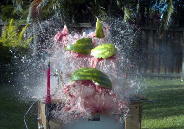 What happens when you put 20,000 volts into a Watermelon?