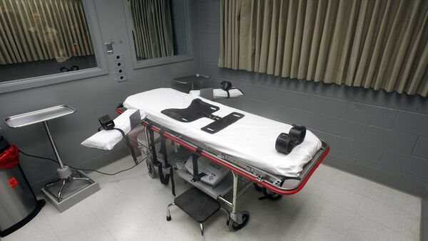 This Nov. 18, 2011 file photo shows the execution room at the Oregon State Penitentiary. - Sputnik International