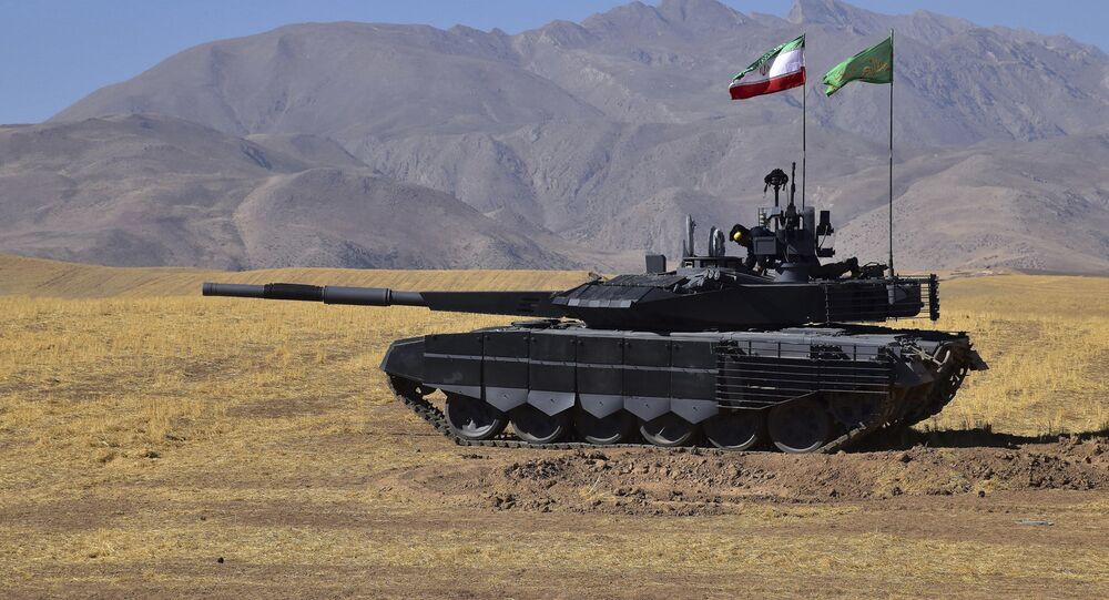 This picture released by the official website of the Iranian Defense Ministry on Sunday, March 12, 2017, shows domestically manufactured tank called Karrar in an undisclosed location in Iran.
