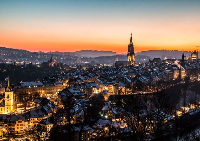 A photo of the old city of Bern, Switzerland, taken from the Rosengarten park. (File)