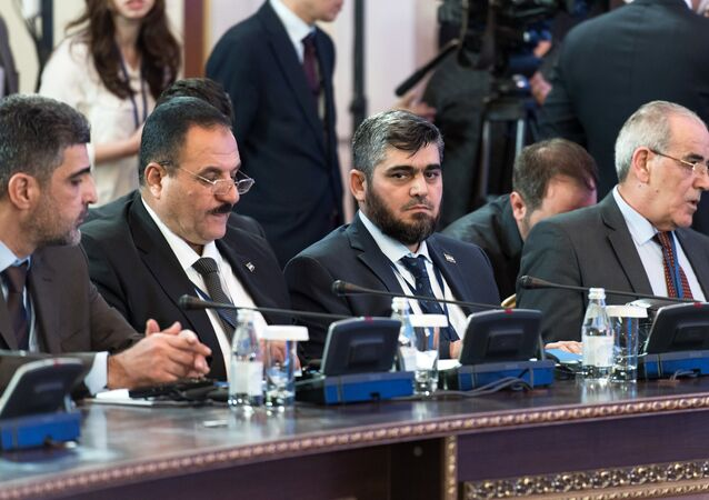 Participants in the International Meeting on Syrian Settlement in Astana