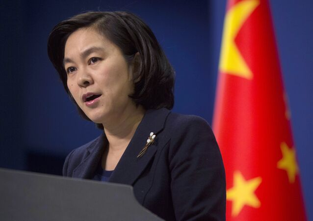 Chinese Foreign Ministry spokeswoman Hua Chunying speaks during a briefing at the Chinese Foreign Ministry in Beijing, China. File photo.