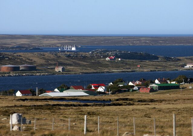 View of Stanley from the route to Mount Pleasant, Falklands. (File)