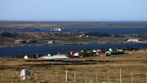 View of Stanley from the route to Mount Pleasant, Falklands. (File) - Sputnik International
