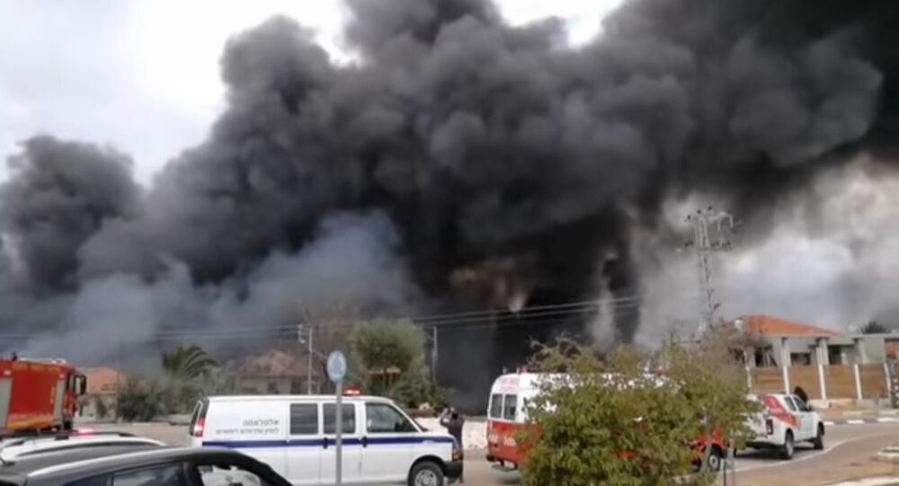 Explosion at an illegal fireworks factory in Israel