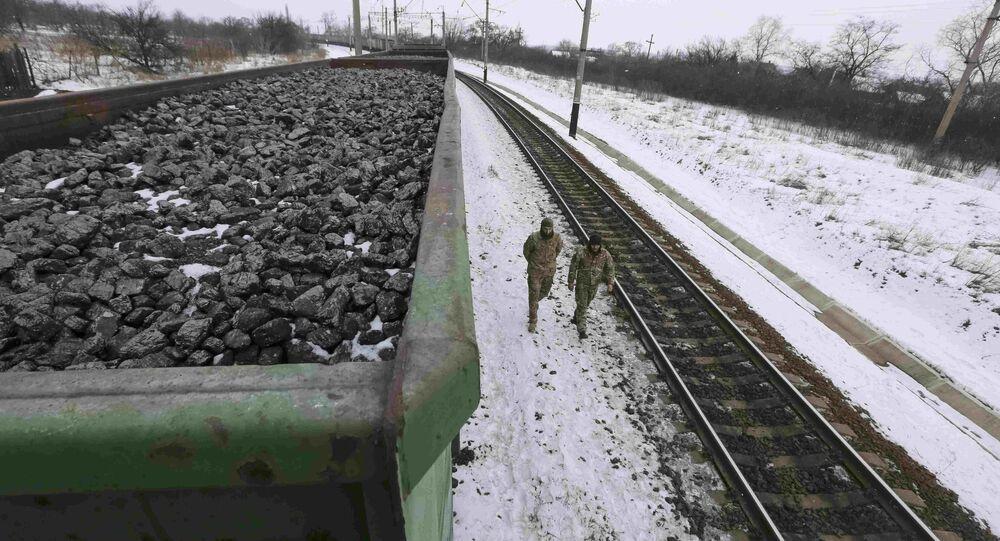 Kryvyi Torets station in the village of Shcherbivka in Donetsk region, Ukraine. (File)