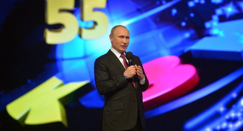 President Vladimir Putin at KVN 55th Anniversary Festival