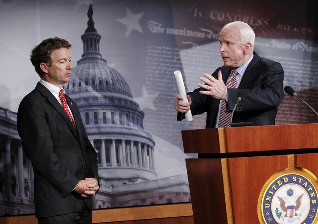 John McCain and Rand Paul