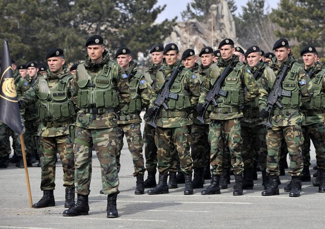 Members of the Kosovo Security Force, (KSF) (File)