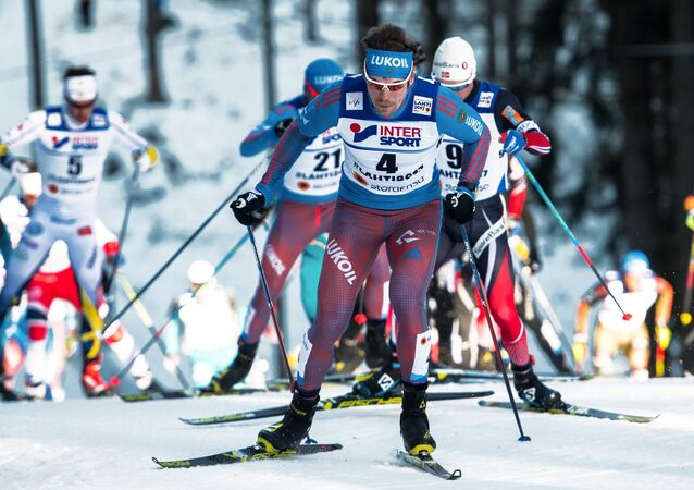 Sergei Ustyugov (Russia) during the men's 50km freestyle mass start at the FIS Nordic World Ski Championships 2017 in Lahti, Finland