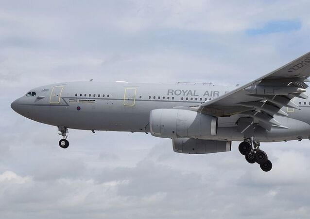 Airbus Voyager KC2 (ZZ337) of the Royal Air Force arrives at the 2016 Royal International Air Tattoo, RAF Fairford, England.