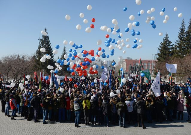 Russia marks third anniversary of Crimea's accession to the Russian Federation.