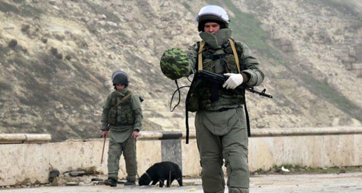 Russian bomb technicians demine Citadel of Aleppo