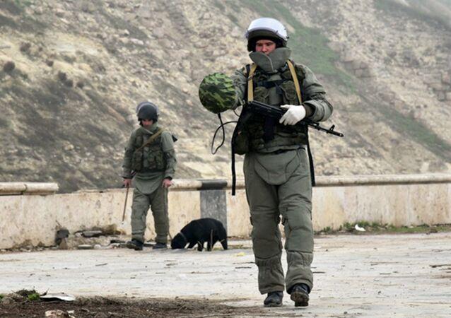 Russian bomb technicians in Syria. File photo