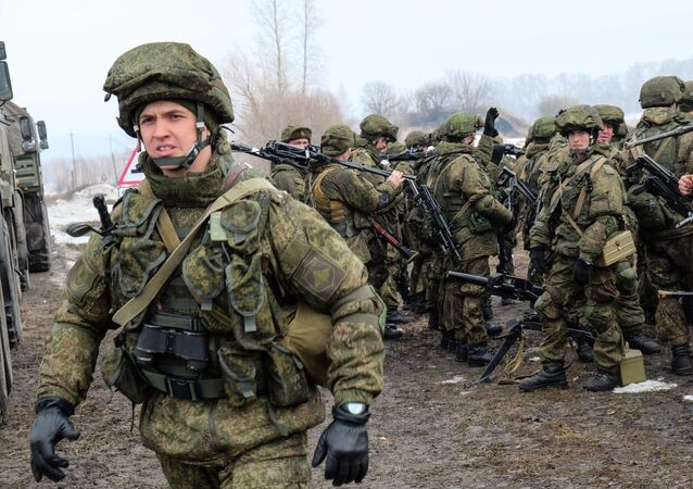 The first stage of the joint military exercise of the Russian Airborne Forces and the Belarusian Special Operations Force at the Polivna training ground in the Ulyanovsk Region.