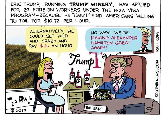 Trump Winery Cartoon