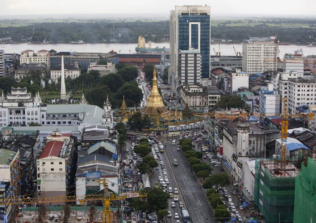 View of downtown Yangon, Myanmar September 23, 2015.