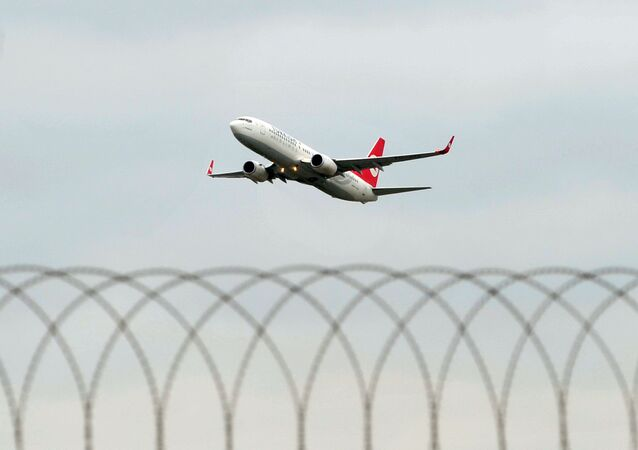 A Turkish Airlines aircraft takes off from Ataturk Airport in Istanbul.