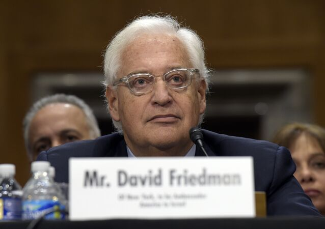David Friedman, nominated to be U.S. Ambassador to Israel, testifies on Capitol Hill in Washington at his confirmation hearing before the Senate Foreign Relations Committee