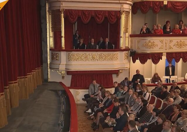 Putin Visits Moscow Maly Theatre
