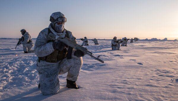 Drill of special ops unit of Chechen Republic near North Pole - Sputnik International