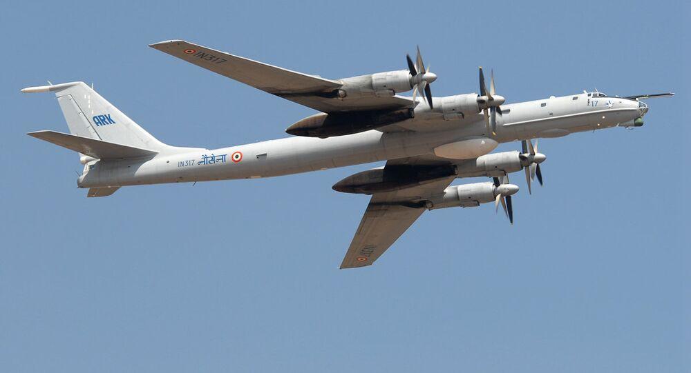 Indian Navy's Tupolev Tu-142M aircraft