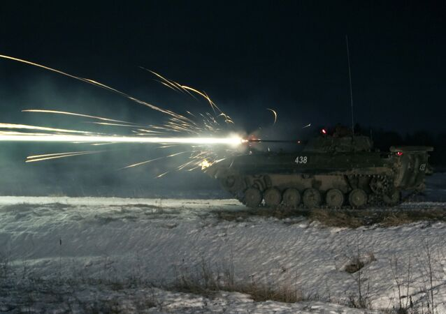Infantry Fighting Vehicle BMP-2 during the 4th Kantemirovskaya Tank Division exercise in Naro-Fominsk. File photo