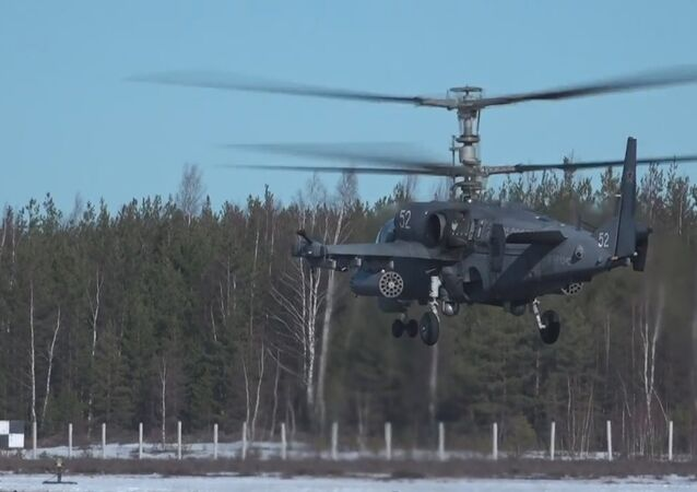"Russian combat choppers are participating in the second stage of the ""Aviadarts-2017"" contest."